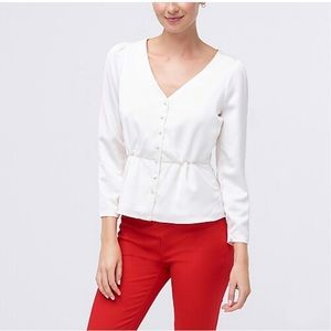 J. Crew Satin-Like Button Down Blouse